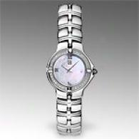 Esq Muee Womens Mothwr Of Pearl & Diamond Watch