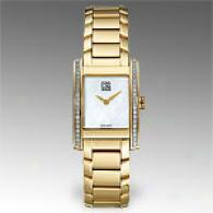 Esq Venture Goldtone Quartz Guard