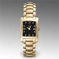Esq Verona Goldtone Diamond Quartz Watch