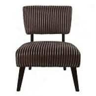 Essex Negro With Silver Stripes Upholstered Chair