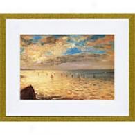 Eugene Delacroix The Sea At Dieppe Framed Print