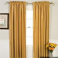 Faux Silk Insulated Window Panel Set