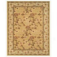 Fawn/latte Floral Vine Traditional Area Rug