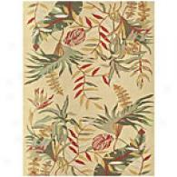 Feizy Paradisio Fern Light Yellow Tufted Wool Rug