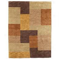 Feizy Pyramid Collection Brown Wool Rug