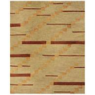 Feizy Tangent Smoke Wool Rug