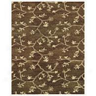 Feizy Vines Charcoal Hand-tufted Wool Rug