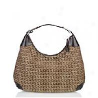 Fendi Beige & Brown Hobo