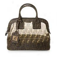 Fendi Brown Medium Zucca Mesh Tote