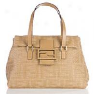 Fendi Natural Woven Mamma Shoulder Bag