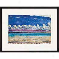 Ferdinand Hodler His Lake Framed Print
