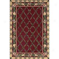 Filigree Burgundy Hand-hooked Wool Rug