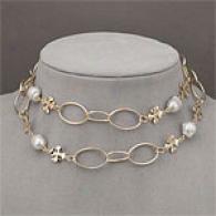 Fiori 14k White Baroque Pearl & Charm Necklace