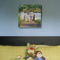 Fisb Tales Two Boys Outdoor Canvas Print