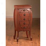 Five Drawer Red Wood Dresser