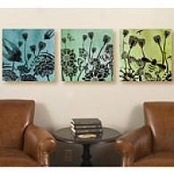 Flights Of Fancy Set Of 3 Canvas Prints
