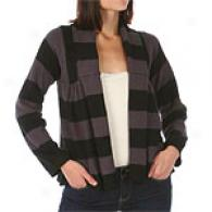 For Joseph Fonz Striped Wool Blend Swing Cardigan