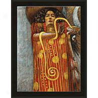 Framed Klimt Hygieia Oil Painting