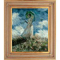 Framed Monet Woman With A Parasol (facing Left)