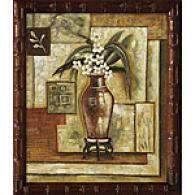 Framed Oil Painting Interior Angles (orchids)