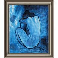 Framed Picasso Blue Nude Oil Painting
