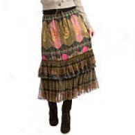 Free People Army Indian Geometric Tiered Skirt