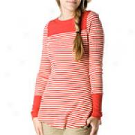 Unconstrained People Striped Ribbed Cotton Tunic