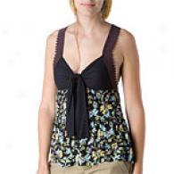 Free People Wildflower Black Twisted Cami