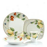 Fruit Salad 16pc Chip Resistant Dinnerware Set