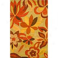 Funky Foliage Floral Hand Tufted Wool Rug