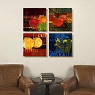 Garden Mexicana Set Of 4 16in Canvas Prints