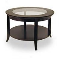 Genoa Coffee Table With Glass Inset And Shelf