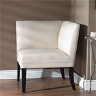 Genuine Leather Cream Parker Corner Chair