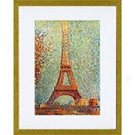 George Seurat The Eiffel Tower Framed Print
