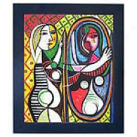 Girl Before A Mirror By Picasso Reproduction