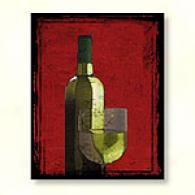 Glass Of Chardonnay Outdoor Canvas Pribt