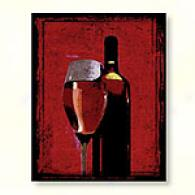 Glass Of Rose Wine Outdoor Canvas Print