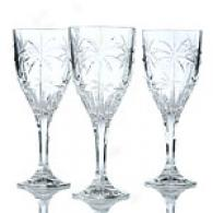 Godinger Set Of 12 Etched Palm Goblets