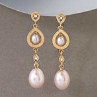 Golay 18k Rose Gold Pearl & Diamon dEarrings