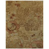 Gold Floral Hand Tufted Wool Rug