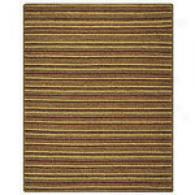 Gold Stripe Hand-woven Jute Rug