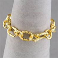 Gold Vermeil Twisted Link Bracelet