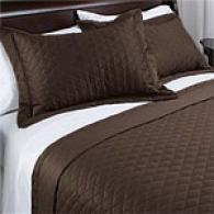 Grand Estate 400tc Sateen Coverlet & Sham Set