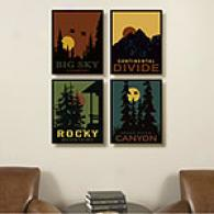 Great Outdoors Set Of 4 Canvas Print Set