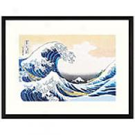 Hard Wave Off Kanagawa By Hosukai Framed Print