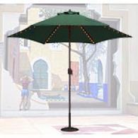 Green Canvas Lighted Market Umbrella 637b12