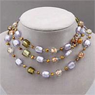 Geen Gold & Silver Murano Bead Fashoon Necklac3