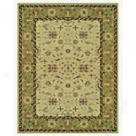 Green Tonal Traditional Hand-tufted Wool Rug