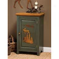 Green Wilderness One Door Cabinet