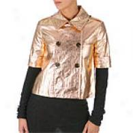 Gryphon Short Sleeve Rose Gold Metallic Jacket